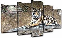 None brand Tiger Wandbild Wandkunst Bild