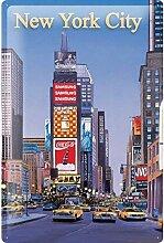 None Brand U.S. New York City Taxi Blechschild