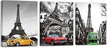 None/Brand Wand-Art Deco Leinwand Paris Eiffelturm