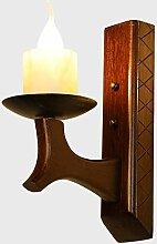 Nonller Holz Wandleuchte Kreativ Design Vintage