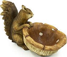 NOOR LIVING Gartenfigur Eichhörnchen mit