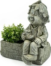 NOOR LIVING Gartenfigur Pflanztopf mit Gnom, (1
