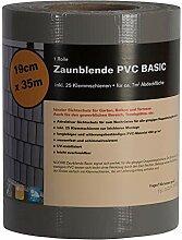 Noor Sichtschutzstreifen PVC Zaunblende 0,19x35 m