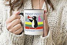 Noot Noot Motherf Schwarzer Griff Becher Kaffee