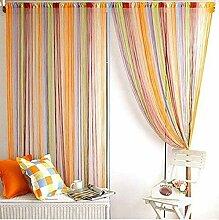 Norbi Raumteiler mit Quasten, Regenbogenfarben,