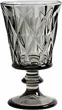 Nordal - Diamond - Weißweinglas, Weinglas, Weinkelch - Glas - Farbe: smoke, Grau - mit schönen Facetten