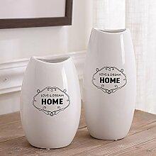 Nordeuropäischen minimalistisch weiße Keramik Vase Blume Ornamente können gespeicherte Wasser Blumen, eine für Mittelstücke Weihnachten Geburtstag Hochzeit Party Geschenk Desktop Home Decor