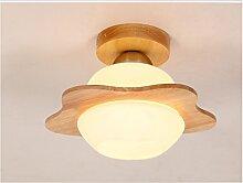 Nordic amerikanische Minimalist Holz LED-Glaslampe