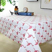Nordic Baumwolle Leinen Tischdecke Flamingo Stoff