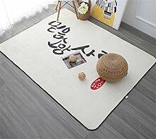 Nordic Carpet Einfache moderne Wohnzimmer Schlafzimmer Couchtisch Sofa Bedside Büro Rechteck Decke Teppich ( größe : 120cmX180cm )