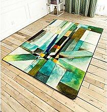 NORDIC CARPET, GEOMETRY Moderne minimalistische Sofa großen Teppich, Wohnzimmer Couchtisch Studie Schlafzimmer Schlafzimmer Bedside Mat ( größe : 120X170cm )