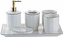 Nordic Ceramics 6-teiliges Badezimmer- und