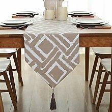 Nordic Cotton Table Runner, Lange Tischdecke,