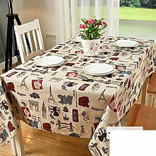 Nordic Couchtisch Tischdecke/Tischtuch/Baumwolle Stoff Schreibtisch Tischdecke/Moderne Einfache Tischdecke-C 90x140cm(35x55inch)