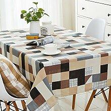 Nordic Fashion Tischtuch/Modernes Minimalistische Wohnzimmer Tisch Tischtuch/Tischtuch/Staubdicht Tischdecke-B 140x240cm(55x94inch)
