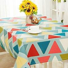 Nordic Fashion Tischtuch/Modernes Minimalistische Wohnzimmer Tisch Tischtuch/Tischtuch/Staubdicht Tischdecke-H 110x170cm(43x67inch)