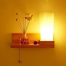 Nordic Holz-Wandlampe führte japanischen Stil