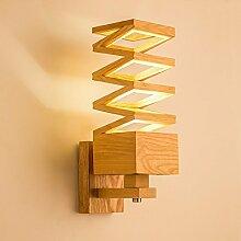 Nordic Holz Wandleuchte moderne Schlafzimmer Bett