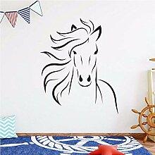 Nordic Horse Head Vinyl Kunst Wandaufkleber