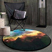 Nordic Kreative Mode Runde Teppich Schlafzimmer