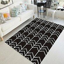Nordic minimalistische geometrische Teppiche / Wohnzimmer Couchtisch Sofa Schlafzimmer Nachttisch Teppich / Studie Halle Matten ( größe : 100*100cm )
