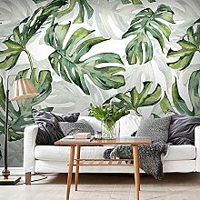 Nordic minimalistische grüne Pflanze Blatt Tapete