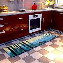 Nordic Modern Minimalist Elk Küche Long Strip Matte Schlafzimmer Nachttisch Fenster Rutschfeste Füße ( größe : 0.5*1.8m )