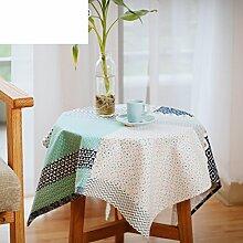 Nordic National Wind Geometry Cotton Leinen Tisch Tuch/Tee Tischdecke-A 40x72cm(16x28inch)