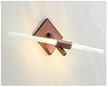 Nordic Postmodern Einfache Spiegel Vorne Lichter Led Badezimmer Kreative Wand Lampe Nachttisch Schlafzimmer Wohnzimmer Lichter ( Farbe : Braun )