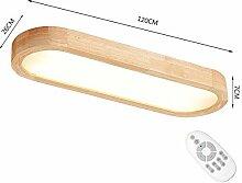 Nordic rechteckige Massivholz LED Esszimmer Studie