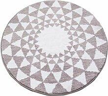 Nordic Round Carpet Verdickung Schlafzimmer