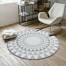 Nordic Round Teppich Couchtisch Teppich Drehstuhl Kissen , 2 , 80cm