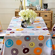 Nordic simple abstrakt fabric baumwolle tischtuch frisch garten round tea tisch tuch-A 110x110cm(43x43inch)