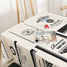 Nordic simple modern tuch tuch/frische baumwolle und leinen tischdecken/europäischen stil wohnzimmer tischdecke-A 85x140cm(33x55inch)