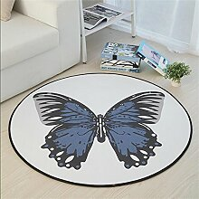 Nordic Simple Round Teppich Wohnzimmer Schlafzimmer Sofa Couchtisch Teppich Round Hocker Computer Swivel Stuhl Stuhl Yoga Fitness Mat ( Farbe : #2 , größe : Diameter-140CM )