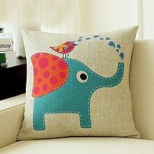 Nordic Stil Deer europäischen Moderne Sofa-Kissen-Kissen-amerikanische Büro Pillow Pillow Pillow mit dem Core Cotton Ma Kreative ( Farbe : #7 )