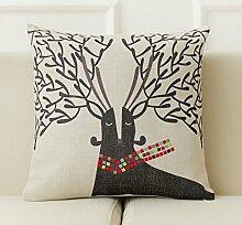 Nordic Stil Deer europäischen Moderne Sofa-Kissen-Kissen-amerikanische Büro Pillow Pillow Pillow mit dem Core Cotton Ma Kreative ( Farbe : # 4 )