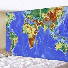 Nordic Stil Drucken Welt Karte Wandteppich Hängen