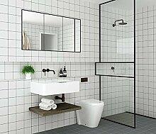 Nordic Tapete Selbstklebende Wasserdichte tragbare Wohnzimmer Badezimmer WC Anti-rutsch-Aufkleber Wand Aufkleber, Weiß