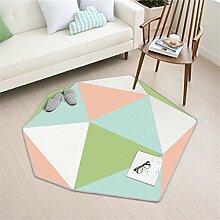 Nordic Teppich Wohnzimmer Schlafsofa Zimmer Couchtisch Sofa Home Teppich Crawling Mat Teppich ( Farbe : D , größe : 150*137cm )