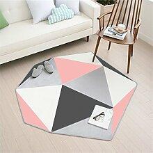 Nordic Teppich Wohnzimmer Schlafsofa Zimmer Couchtisch Sofa Home Teppich Crawling Mat Teppich ( Farbe : C , größe : 150*137cm )