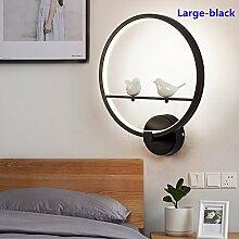 Nordic Wandleuchte Creative Simple Bird Circle für Gang/Treppenhaus/Wohnzimmer/Schlafzimmer/Bedside/Restaurant,Small-White-3color verstellbar
