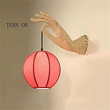Nordic Wandleuchte Die neuen chinesischen modernen minimalistischen Wohnzimmer Wandlampe Schlafzimmer Nachttischlampe Wandlampe Gang Deko-Ideen klassischen Ingenieur Lampe Gangleuchten ( größe : Große )