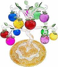 nordiclife Glaskristall Apfelbaum mit 12 Äpfeln