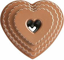 "NordicWare Backform ""Herz-Kranz"", gestuft"
