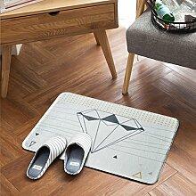 Nordische einfache kleine frische tür matte,Von mats Fußabtreter Schlafzimmer küche Toilette Anti-rutsch matte vor der tür-B 60x90cm(24x35inch)
