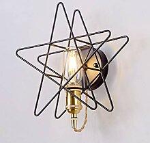 Nordische Eisen Wandlampe Schlafzimmer, Pentagram