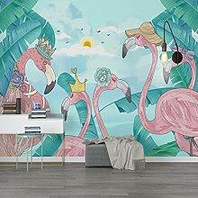 Nordische Flamingotapete