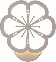 Nordische LED-Wandlaterne, Moderne LED Blume