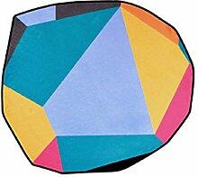 Nordische unregelmäßige runde Teppiche,
